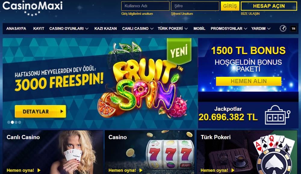 Casinomaxi Hangi Oyunlari Sunar