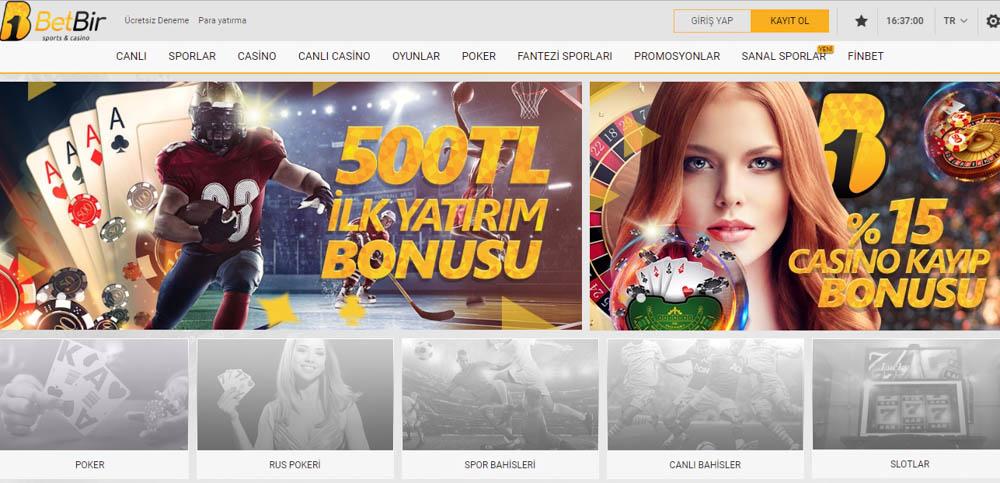 Betbir Bahis Sitesi Casino Oyunlari