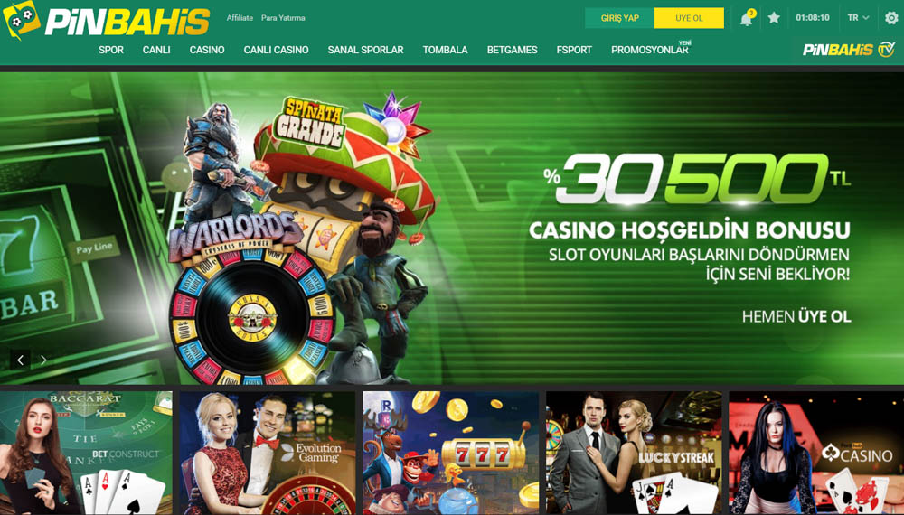 Pinbahis Casino Secenekleri